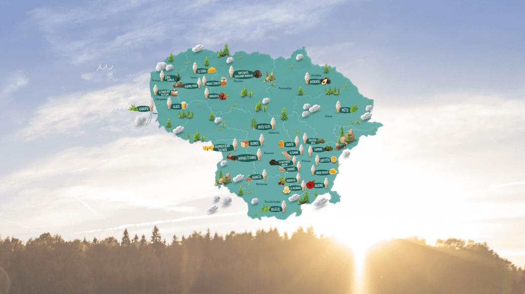 Mapa 20 najbardziej niezwykłych smaków lodów na słoneczny wrzesień