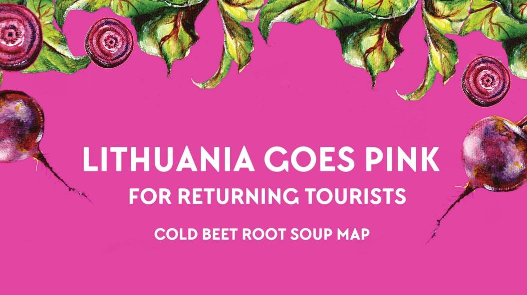 Lithuania Goes Pink. For Returning Tourists - Cold Beet Root Soup Map